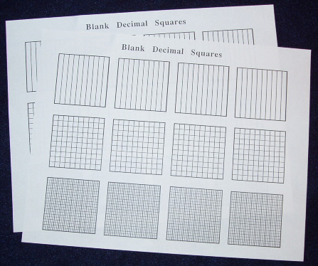 Materials: A sheet of Blank Decimal Squares with Tenths, Hundredths ...