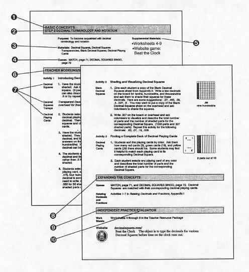 math worksheet : teacher s guide  lesson components : Decimal Squares Worksheets