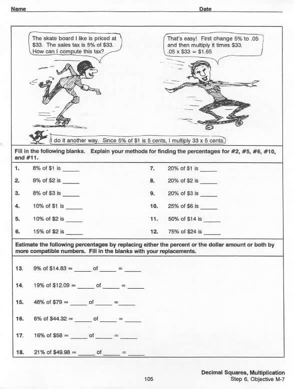 Number Names Worksheets decimal to percent worksheets : Percent To Decimal Worksheets - fractions decimals and percentages ...